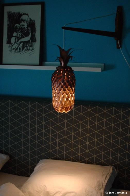 Ferdig lampe lys
