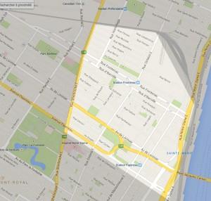 Carte secteur Sainte Marie Montréal