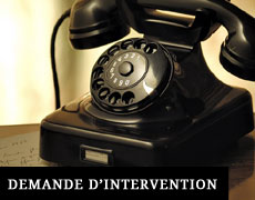 Demande d'intervention
