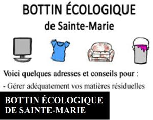 Bottin écologique de Sainte-Marie