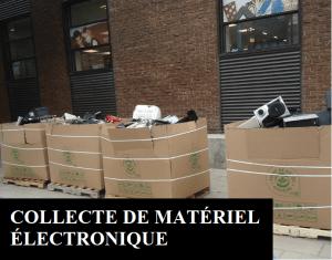 Collecte de matériel électronique