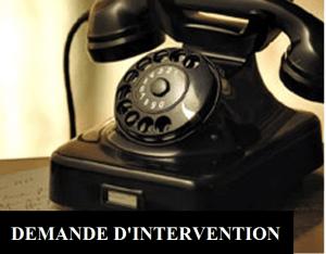 Demande d'intervention