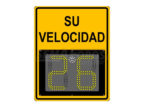 Radar de velocidad Safepace® 11: cuenta con un tablero ligero de 2 dígitos y un diseño sencillo, ideal para fraccionamientos privados o vialidades locales.