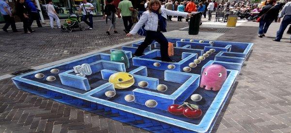 street art un incroyable oeuvre de rue inspiree de pacman 01 Street Art : Un incroyable oeuvre de rue inspirée de Pacman
