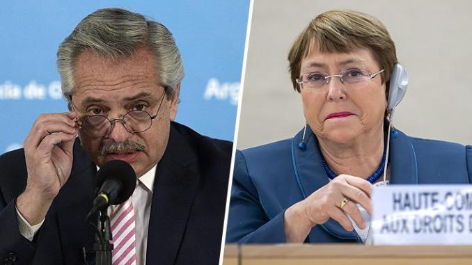 Previo al voto argentino contra Venezuela, Alberto Fernández mantuvo una conversación con Michelle Bachelet – SEMANARIO ARGENTINO