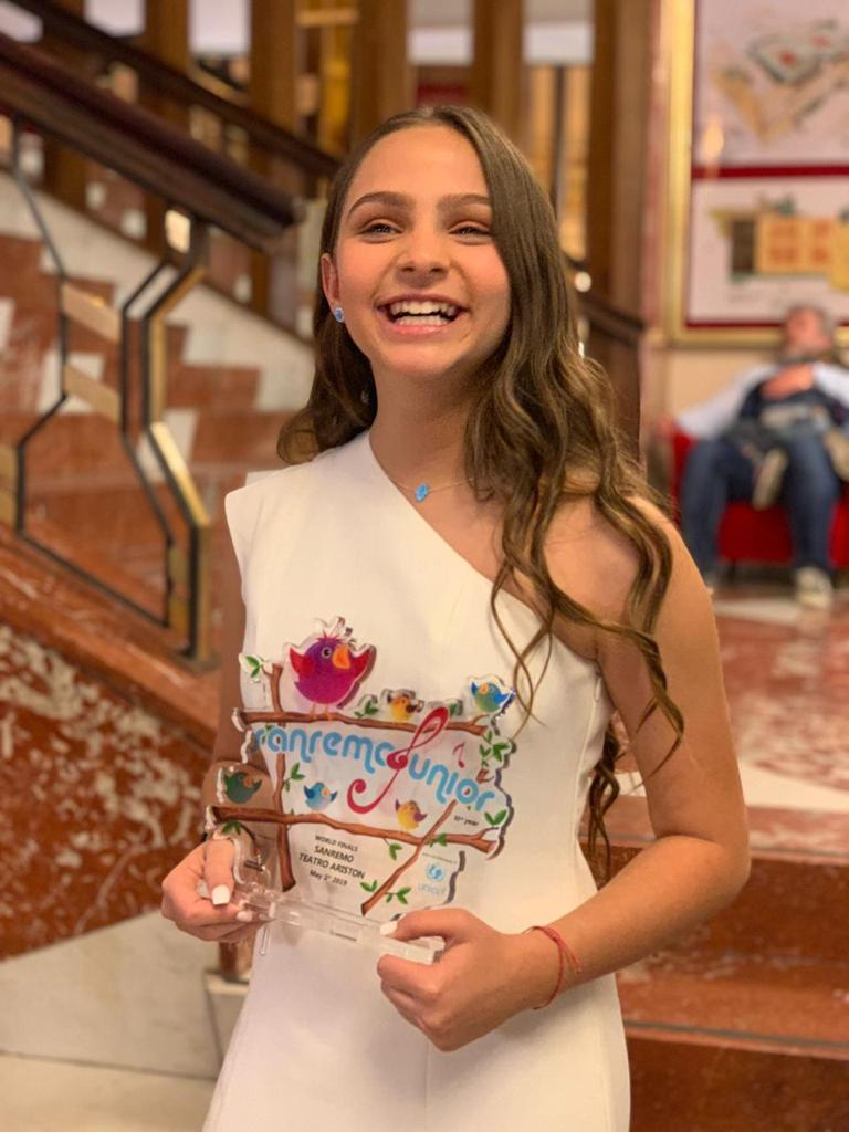 Yael Danon, mención especial en el festival San Remo de la canción, edición juvenil