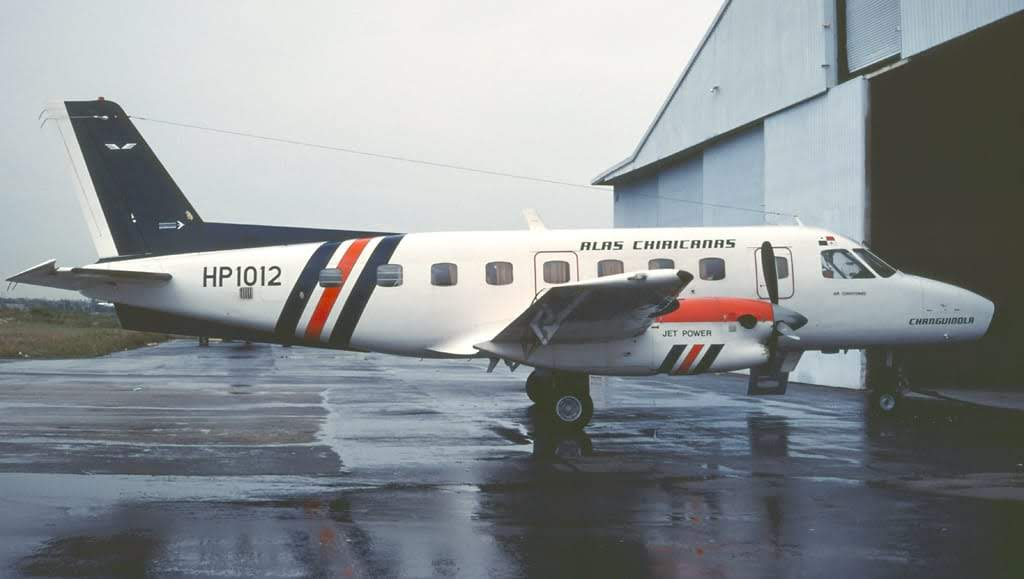 Un avión como éste fue el que estalló en el aire