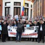 En Londres, demandan libertad de Húbert Ballesteros