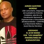 Paramilitares asesinan a líder comunitario en Buenaventura