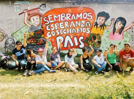 Jornada Muralista, Cumbre de Paz Región Centro. Foto Verónica Luna, Prensa Rural.