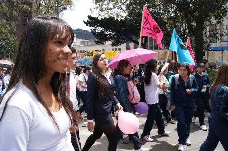 Movilización de la comunidad educativa del SENA. Foto archivo.
