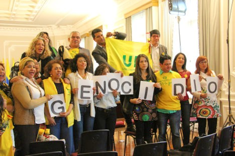 Asistentes al acto en la Casa de Nariño. Foto Carolina Tejada.
