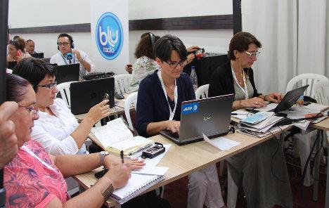 Sala de prensa en el cubrimiento de la Firma del Acuerdo Final en Cartagena, el pasado 26 de septiembre. Foto J.C.H.