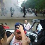 Agresión policial contra estudiantes universitarios en Riohacha