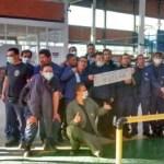 A huelga en Bundy Colombia (Mosquera, Cundinamarca)