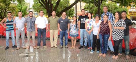 Campamento por la paz, visita del Rector de la Unicórdoba  y demás funcionarios.