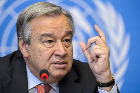 António Guterres, nuevo secretario general de las Naciones Unidas.