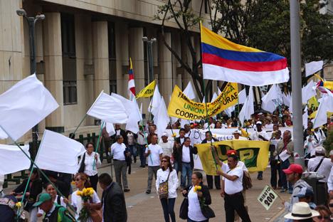 Movilización de las víctimas. Foto Jonathan Fortich.