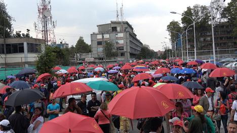 Jornada de movilización de los maestros en Bogotá. Foto Eldia.