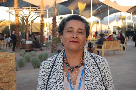 Jamila Bargach, que ha asistido a la Cumbre del Clima de Marrakech, conoce bien el problema al que se enfrentan las mujeres bereberes del sur de Marruecos para recoger agua. Junto a la investigadora canaria Victoria Marzol ha instalado un sistema de mallas para capturar agua de la niebla. / SINC
