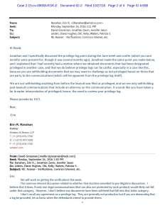David Grossman Declaration, Exhibit A