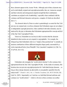 Axanar Motion Objections - Plaintiffs' Objection to Defense MIL #4, Page 8