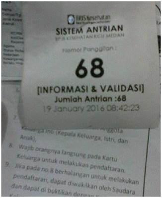Nomor antre untuk validasi data dan kelengkapan berkas-berkas.
