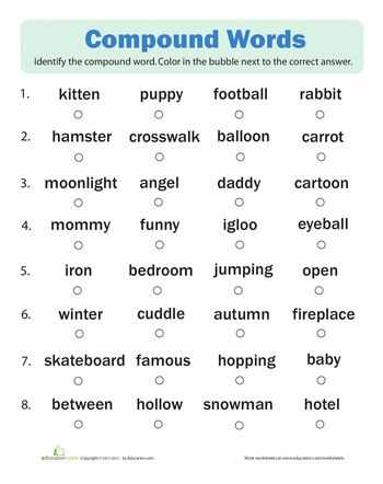 2nd Grade Vocabulary Worksheets and 10 Best Pound Words Images On Pinterest