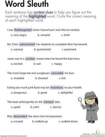 2nd Grade Vocabulary Worksheets or 110 Best Reading Worksheets Images On Pinterest