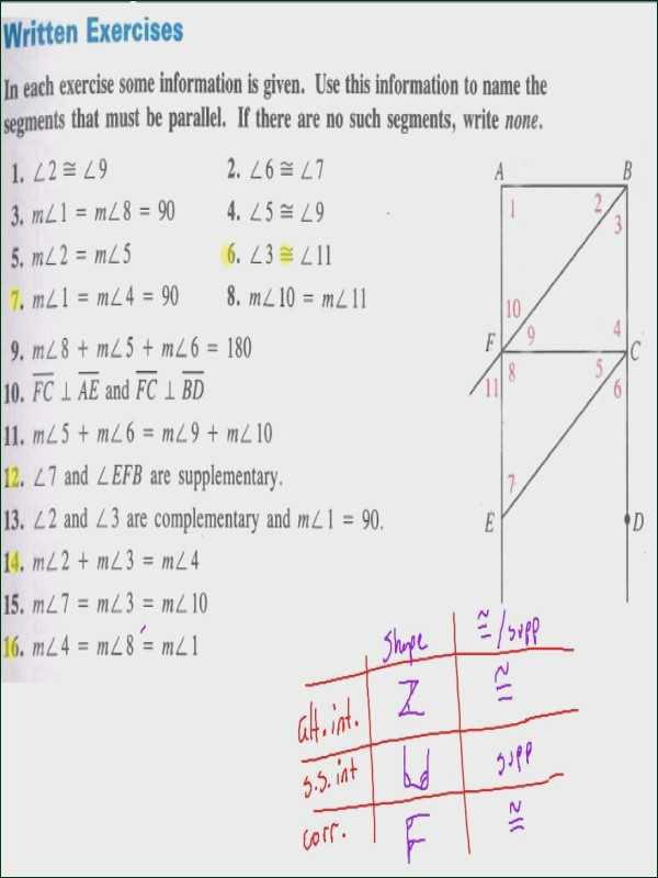 3.3 Proving Lines Parallel Worksheet Answers and Parallel Lines Cut by A Transversal Worksheet