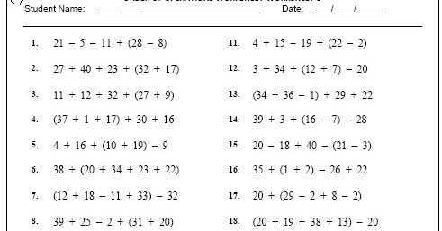 7th Grade order Of Operations Worksheet Pdf together with Worksheets 45 Re Mendations order Operations Worksheet Hd