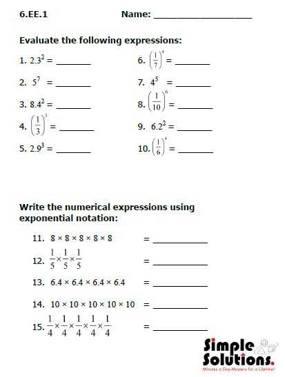 8th Grade Common Core Math Worksheets with Mon Core Math Worksheets 7th Grade Worksheets for All