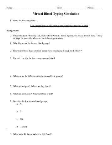 Abo Rh Simulated Blood Typing Worksheet Answers Along with Neo Sci Teacher S Guide