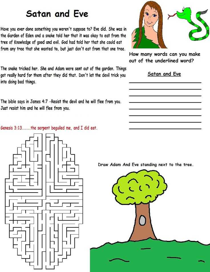 Adam and Eve Worksheets together with Sunday School Lessons and Crafts for Kids Free Sunday School