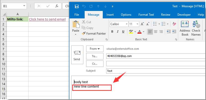 Add Worksheet In Excel with How to Add New Line to Email Body In Mailto Hyperlink In Excel