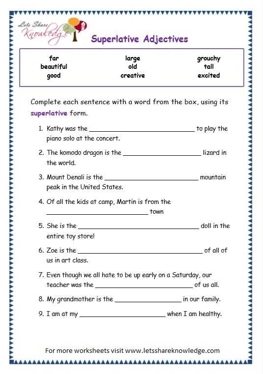 Adjective and Adverb Worksheets with Answer Key or Parative Adjectives Worksheet the Best Worksheets Image