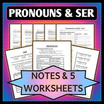 Agreement Of Adjectives Spanish Worksheet with 9 Best Spanish 1 Adjectives Pronouns Articles & Ser Images On