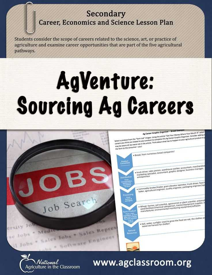 Agriculture Careers Worksheet Along with 46 Best 6 8 Lesson Plans Images On Pinterest