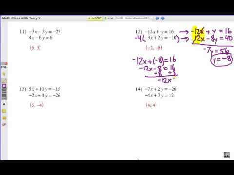 Algebra 2 Systems Of Equations Worksheet or Worksheets 44 Best solving Systems Equations by Elimination