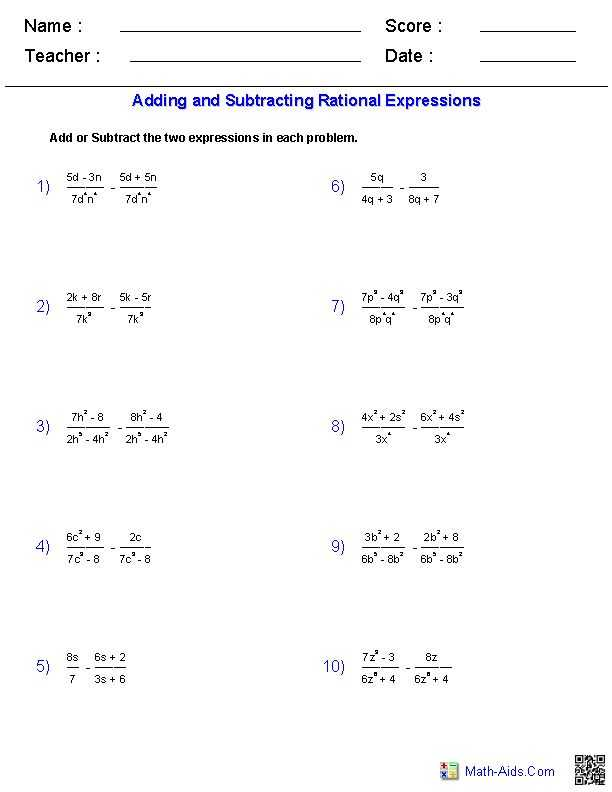 Algebra 3 Rational Functions Worksheet 1 Answer Key and 9 Best Rational Functions Images On Pinterest