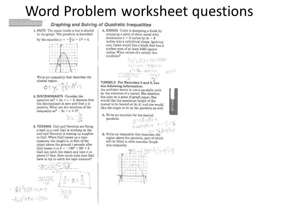 Algebra Inequalities Worksheet or Word Problem Worksheet Questions Ppt Video Online