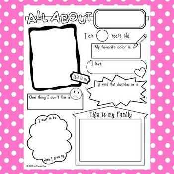 All About Me Worksheet Middle School Pdf Along with 83 Best Esl Templates Images On Pinterest
