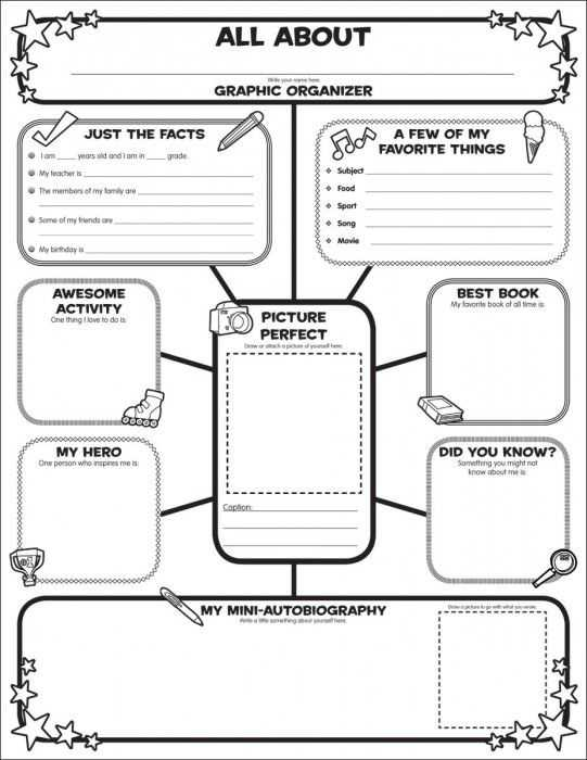 All About Me Worksheet Middle School Pdf with 18 Best Teaching Resources Graphic organizers Images On Pinterest