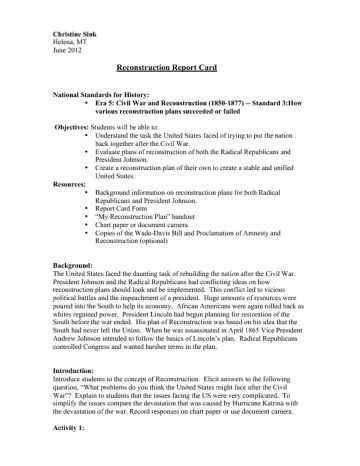 America the Story Of Us Civil War Worksheet Answer Key Also 65 Best Reconstruction Images On Pinterest