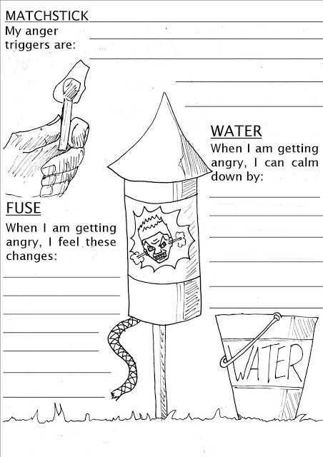 Anger Management Worksheets for Kids Also Firecracker Anger Worksheet Work Stuff Pinterest