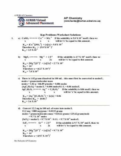 Ap Chemistry Worksheets with Answers Also Ap Unit 1 Worksheet Answers Jensen Chemistry