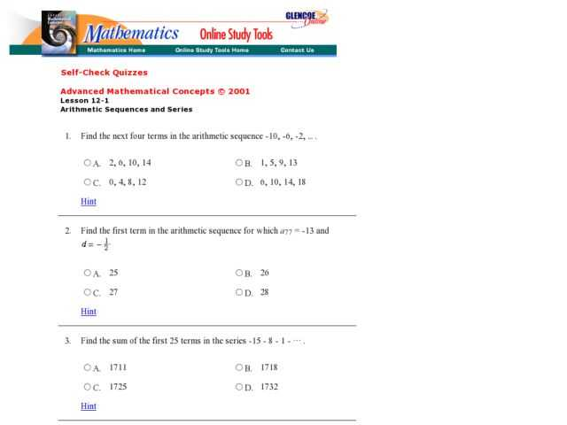 Arithmetic Sequence Worksheet 1 together with Arithmetic Sequences and Series Worksheet Worksheets for All