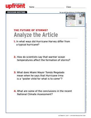 Atmosphere and Climate Change Worksheet Answers Also the Future Of Storms