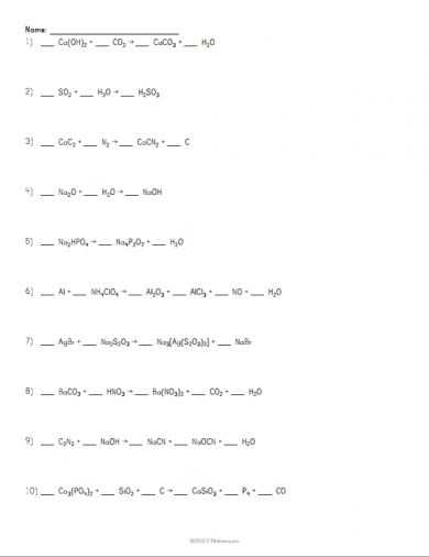 Balancing Chemical Equations Worksheet Pdf or 183 Best Physical Science Images On Pinterest