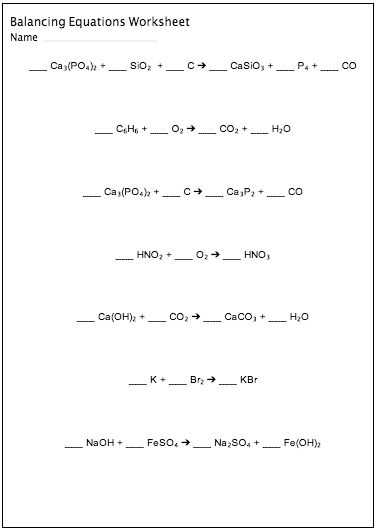 Balancing Chemical Equations Worksheet Pdf together with Balancing Chemical Equations Worksheet Maker Customizable and